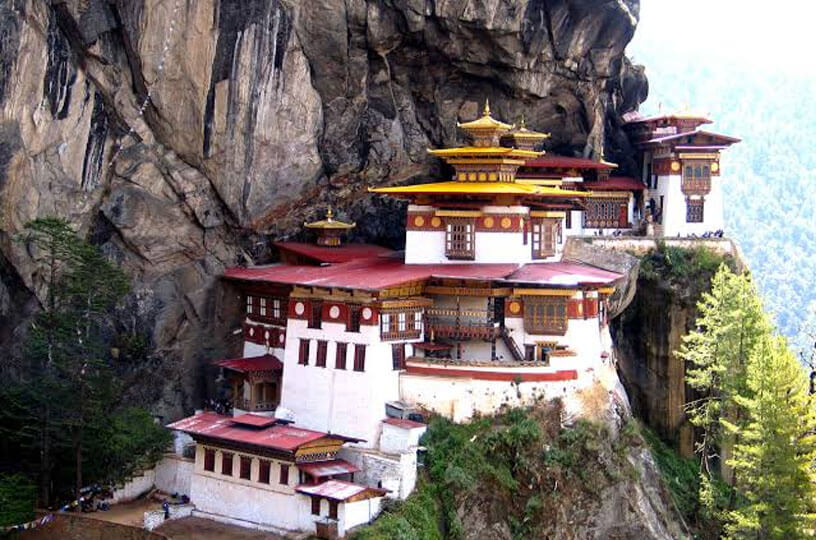 Known as the Tiger Nest, the Taktsang sanctuary stands immovably over the valley of Paro, Bhutan